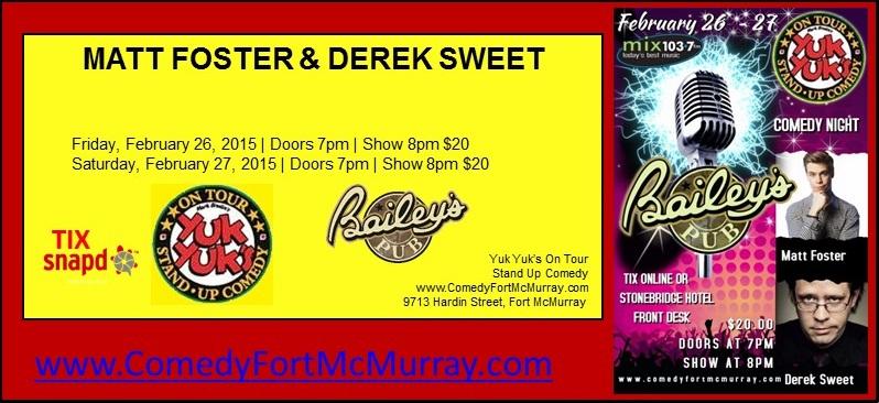 February 26- 27 Comedy Night