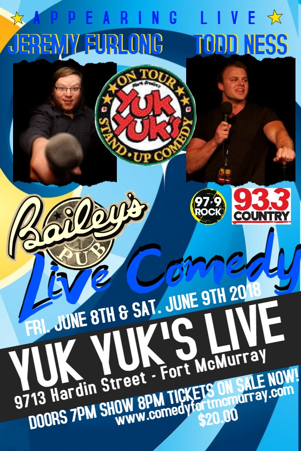 Yuk Yuk's Comedy Show @ Bailey's Pub in the Stonebridge Hotel | Fort McMurray | Alberta | Canada